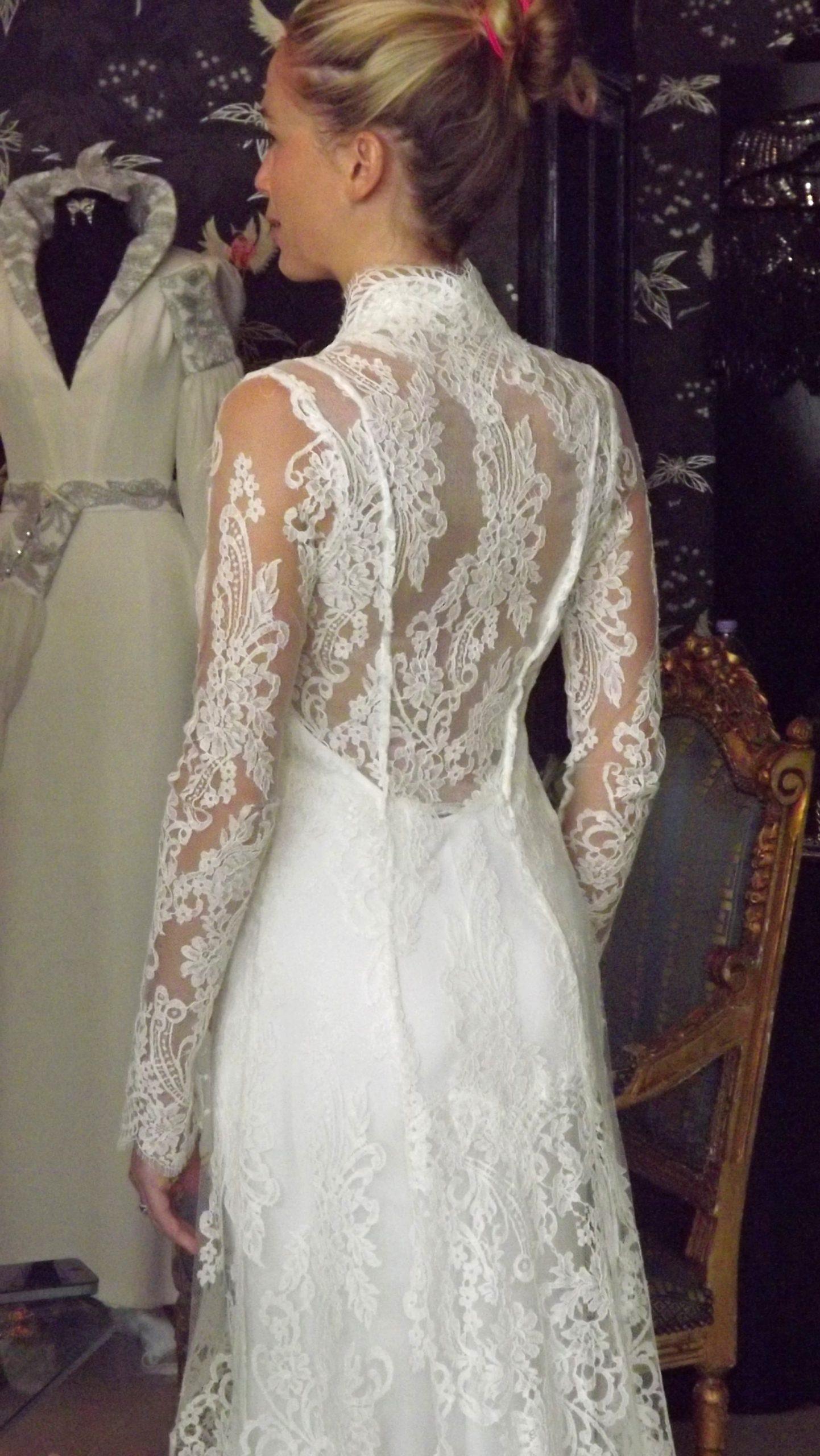 Lace Back on Wedding Dress