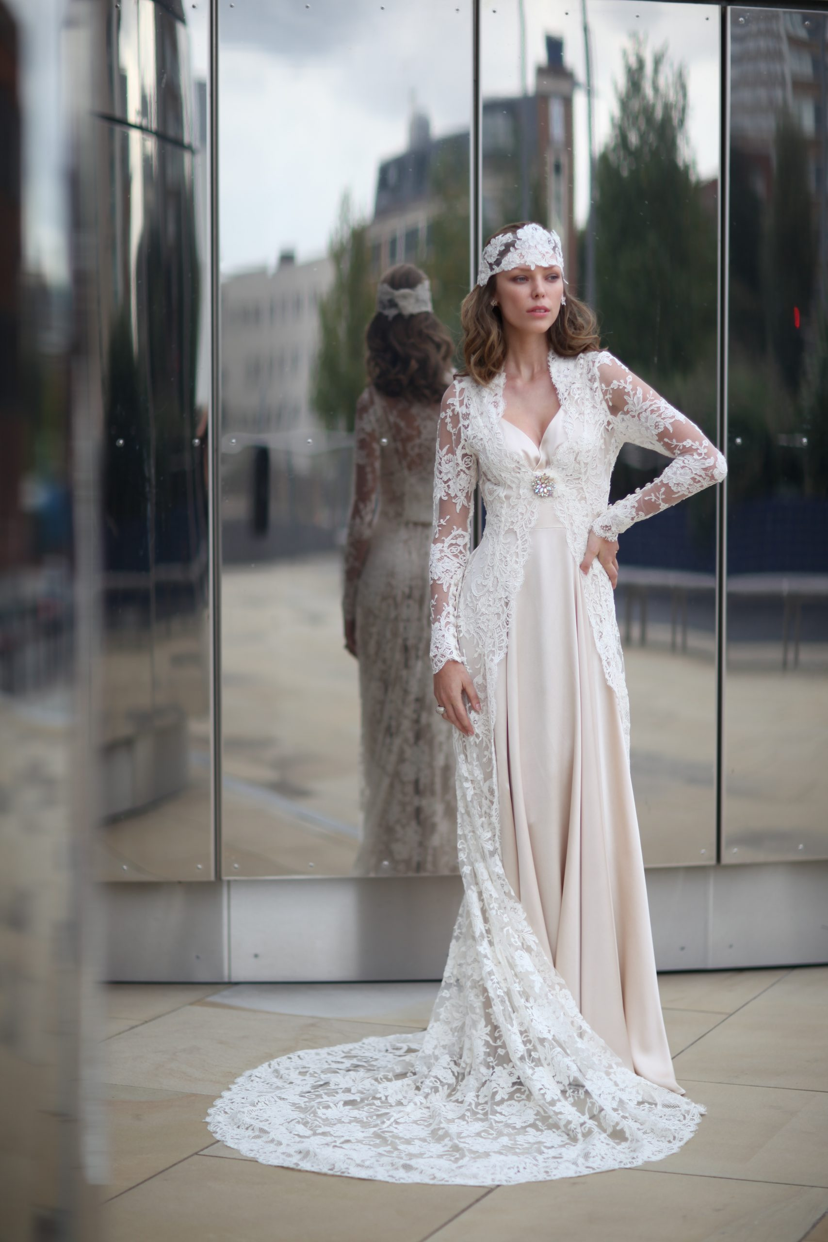 The Harlow Dress and The Versailles Lace Coat
