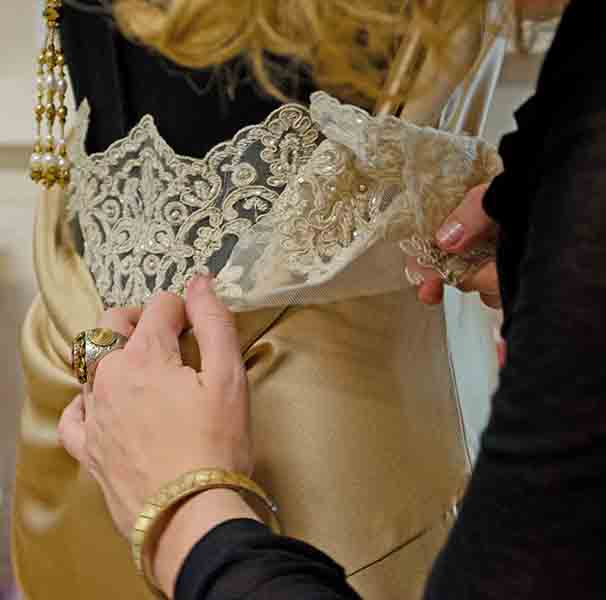 Hand Sewing Lace Detail